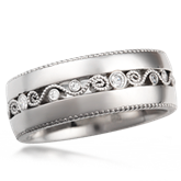 Millegrained Wedding Band