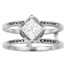 Organic Scaffolding Diamond Engagement Ring - top view
