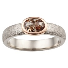 Rustic Bezel Engagement Ring - top view