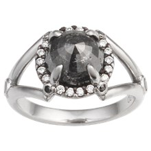 Raw Claw Engagement Ring - top view