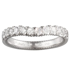 Vintage Deco Cathedral Wedding Band