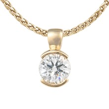 Diamond Semi-Bezel Pendant