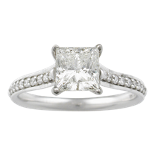 Pave Cathedral Engagement Ring - top view