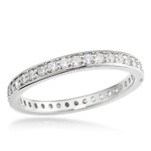 Pave Channel Eternity Wedding Band