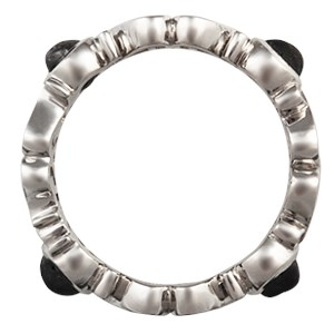 Diamond-Accented Monogram Symbol Wedding Band