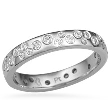 Starry Night Scattered Diamond Wedding Band