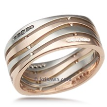 Strata Wedding Band