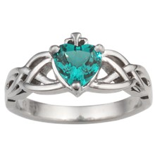 Celtic Engagement Ring - top view