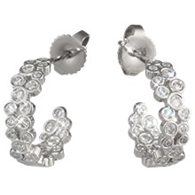 Scattered Bezel Diamond Earrings