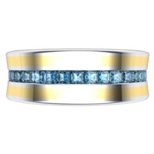 Cigar Channel Diamond Wedding Band - 8mm - top view