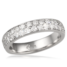 Milky Way Pave Eternity Wedding Band