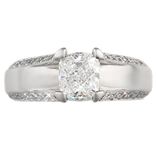 Modern Juicy Light Engagement Ring - top view