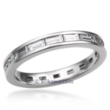 Baguette Diamond Eternity Wedding Band