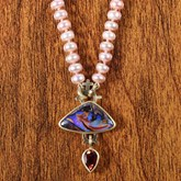 Boulder Opal and Moonstone Necklace