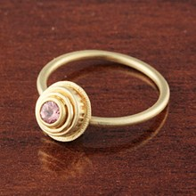 Pink Sapphire Yellow Gold Ring