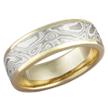Yellow Gold Mokume Wedding Band