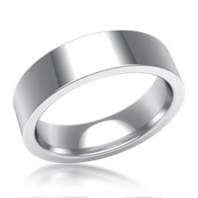 Plain Wedding Band Flat Wide