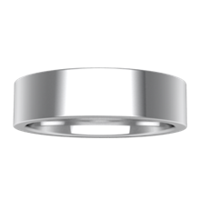 Plain Wedding Band Flat Wide - top view