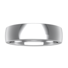 Plain Wedding Band Standard Wide - top view