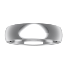 Plain Wedding Band Heavy Wide  - top view