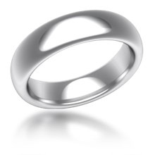 Plain Wedding Band Oval Wide