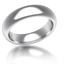 Plain Wedding Band Half Round Wide