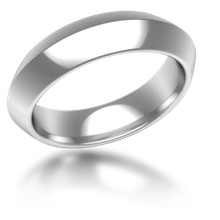 Plain Wedding Band Knife Edge Wide