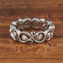 Diamond Ornate Infinity Wedding Band