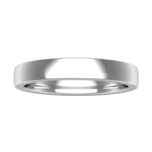 Plain Wedding Band Standard Narrow - top view