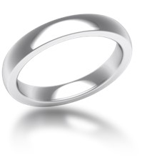 Plain Wedding Band Heavy Narrow