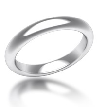 Plain Wedding Band Oval Narrow