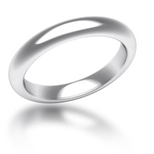 Plain Wedding Band Half Round Narrow