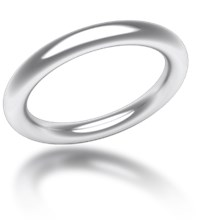 Plain Wedding Band Round