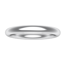 Plain Wedding Band Round - top view