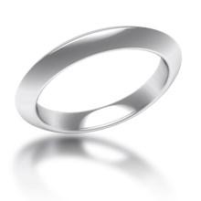 Plain Wedding Band Knife Edge Narrow