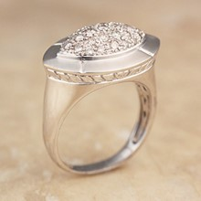 White Gold & Diamond Pave Marquise Ring