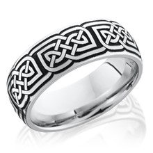High Polished Edge Celtic Knot Band