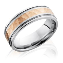 Hammered Two-Tone Center Band