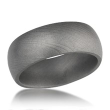 Traditional Damascus Steel Rounded Band