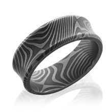 Flat Twist Damascus Steel Cigar Band
