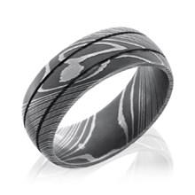Damascus Steel Groove Band