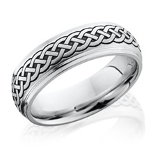 Stepped Edge Celtic Knot Band
