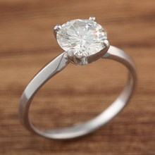 Moissanite Solitaire Size 4.75