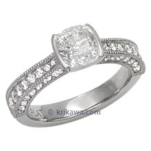 Brilliant Taper Pave Engagement Ring