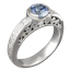 Mokume Curls Engagement Ring with a Blue Sapphire