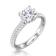 Secret Halo Pave Engagement Ring
