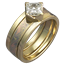 Modern Scaffolding Engagement Ring in Yellow Gold