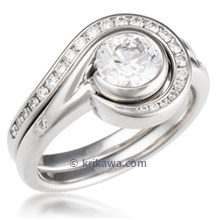 Diamond Swirl Engagement Ring