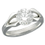 Carved Branch Engagement Ring with 1.56 ct Diamond