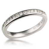 Diamond Channel Wedding Band With European Shank